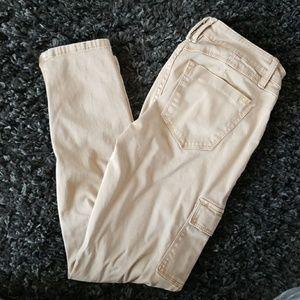 Bebe cargo skinny cropped  pants